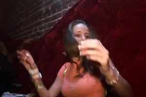 up the petticoat club footage - flashing in