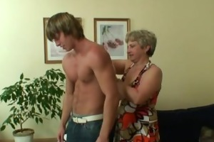 lonely granny gets drilled in various positions