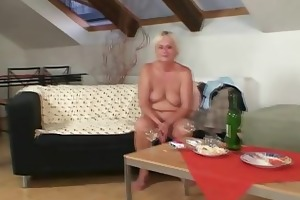drunk fuckfest with granny and son-in-law