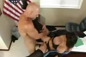 large titted boss acquires fucked in office