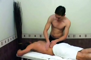 youthful masseur shags older client