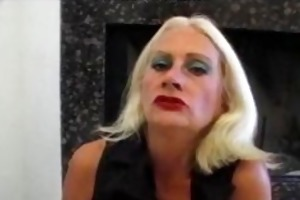 blond old aged tart in fishnets fucks mature aged