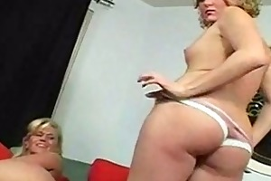 blonde mom and daughter strip naked and shows