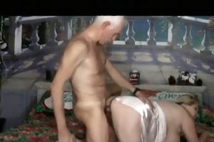 big tit beauty fucked by aged man
