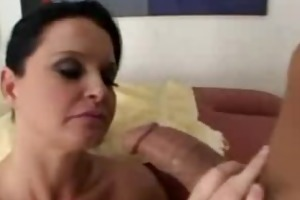 pornstar maya divine gives oral sex to masseur