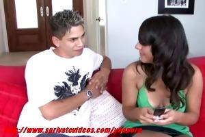 teen girl giving her boyfriend worthy oral job