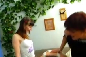 mommy receives drilled by daughter and her