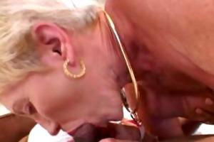 granny likes younger black pecker