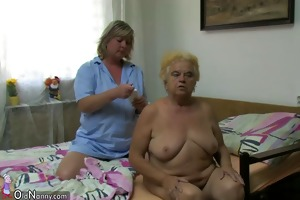 oldnanny fat big granny have a sex with young lad