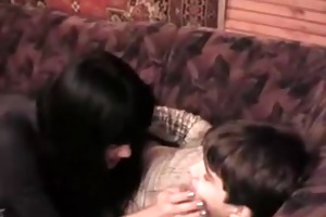 tall brunette hair mom screwed young son