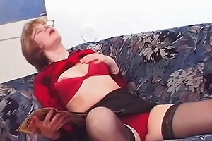 grandma having a good time with her youthful fuck