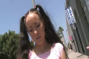 youthful daughter gets pounded by large black rod