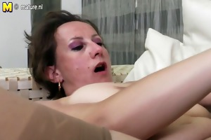 grandma fucks milf and juvenile girl on the couch