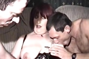homemade film with older woman and three males