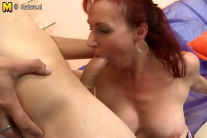 real mother fucking and engulfing her young lover