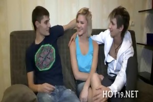 nice group-sex with legal age teenager gal