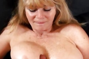 big tit mature milf bonks a young schlong