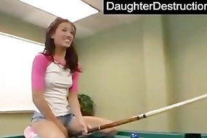 lovely legal age teenager daughter fucks like a