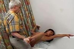 miniature titty asian fucks an old fart hardcore