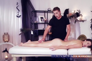 massage rooms young innocent virgin has bawdy