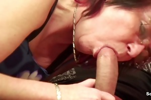 mom in lingerie fuck hardcore young boy after