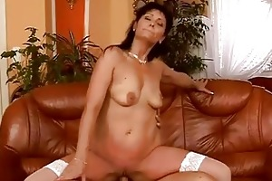 mature dark brown has hot sex with her young