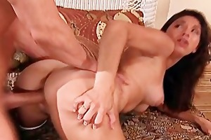 mamma engulf and ride anally a massive knob for