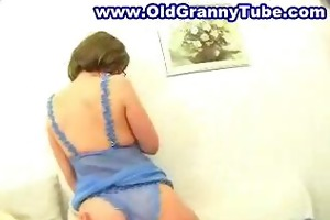 old mature mother drilled in glasses