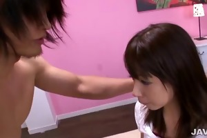 hot sister buruma aoi catches cum after rough fuck