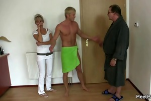 naughty parents seduce and fuck sons girlfriend