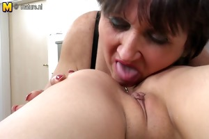 old mother fucks her young lesbo girl