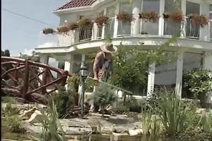 bbw-milf bonks the young gardener