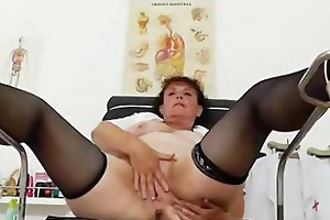 eager head practical nurse playing with herself