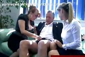 checking out the penis of an old man