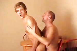 turned on youthful gay rides his daddys hard dong