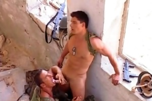 soldiers fucking outdoor