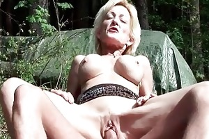 breasty blonde granny gets fucked by a juvenile