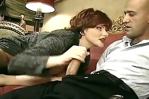 old depraved woman lures a younger man into