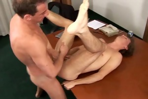 daddy fucks his twink boy at work