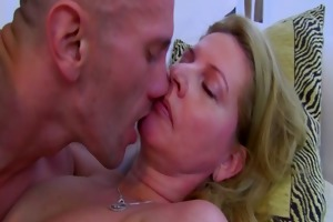 cougar copulates after she is catches her stepson