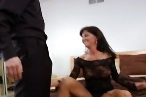hardcore milf receives mouthful of goo