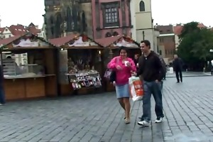 granny tourist is picked up for weenie sucking