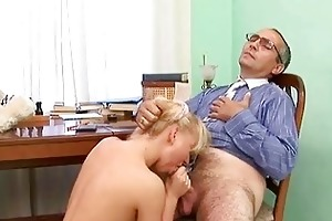 old master is taming cute hottie