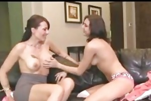 young and mature lesbian in hot scene