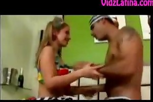 young latin chick girl drilled by prisoner