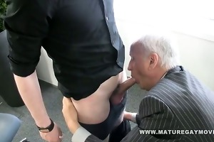 daddy receives his arse fucked by red haired chap
