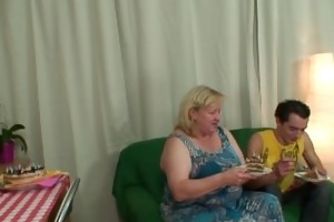 giant titted mother in law pleases him