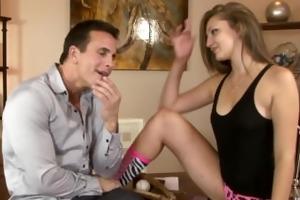Kinky chap face bonks legal age teenager