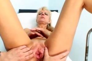 slutty older patient toying her pink part6