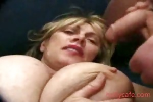 mature woman gets big tits aged old young
